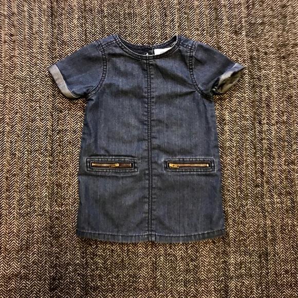 Old navy shirt sleeved denim dress size 18-24